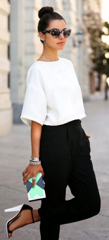 Outfits en blanco y negro ¡Nunca te fallarán!