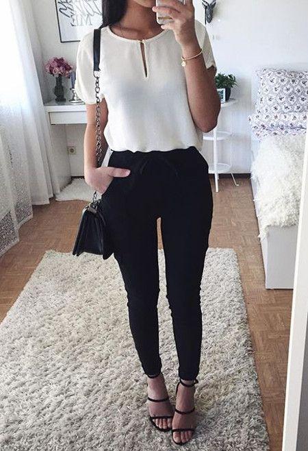 Outfits en blanco y negro u00a1Nunca te fallaru00e1n! - Curso de Organizacion del hogar