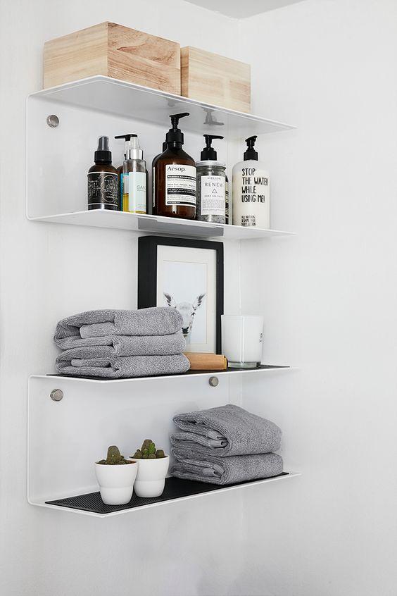 Ideas de organización para baños pequeños