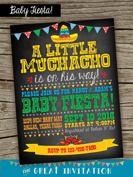 Fiesta Ideas Invitaciones Baby Shower.Baby Shower Estilo Mexicano