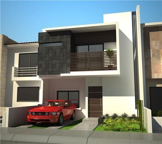 Casas de dos pisos que debes ver antes de disenar la tuya for Fachadas de casas de 2 pisos con balcon