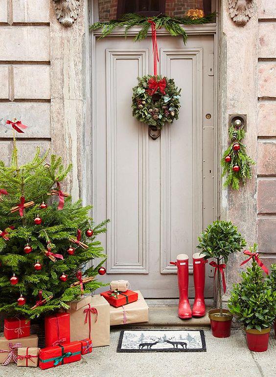 Como decorar entradas esta navidad 2018