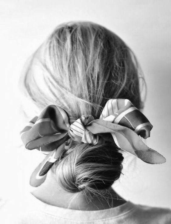 Como usar mascadas en el cabello este verano 2017