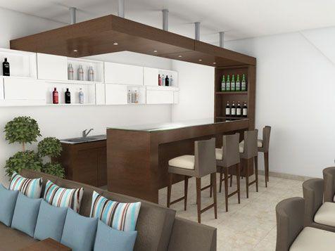 Desayunadores modernos for Bares modernos para casas