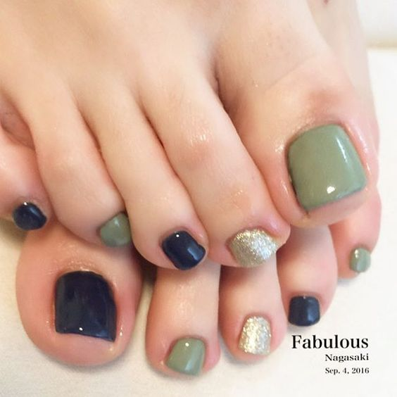 Pedicure de colores