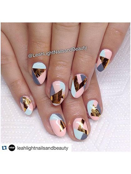 Diseños de uñas para el verano metálicas