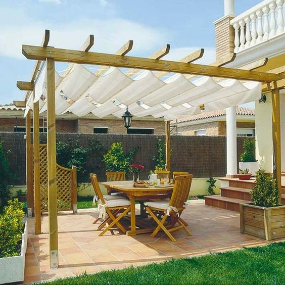 Ideas de pergolas y techos para tu patio - Techos de lona ...