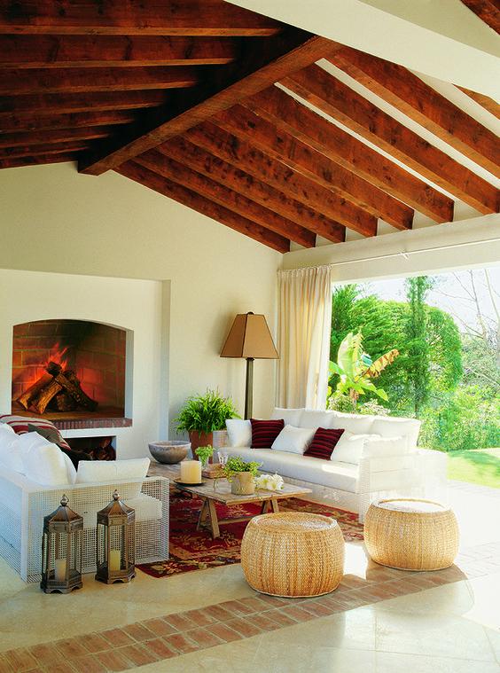Ideas para darle a tu hogar un toque rustico y sensacional - Decoracion de techos rusticos ...