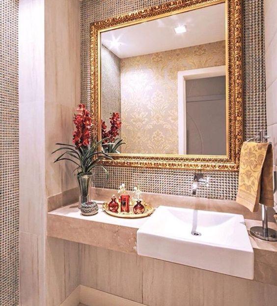 Ideas para decorar la zona de lavabo o lavamanos de tu ba o for Fotos para decorar banos