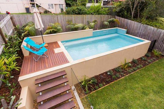 Mas de 25 ideas de albercas peque as que puedes construir Piscinas pequenas en patios pequenos