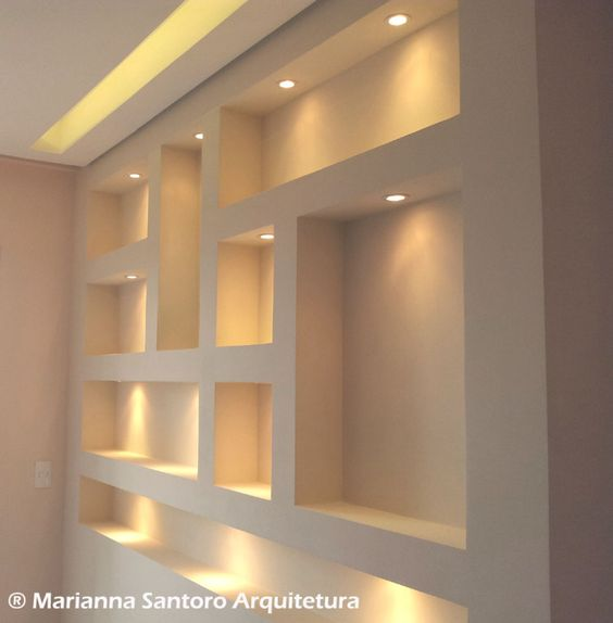 Nichos luminosos para decorar tu casa tendencias 2017 2018 for Figuras en drywall para cocinas