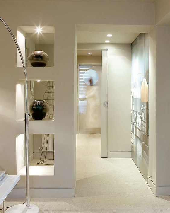 Nichos luminosos para decorar tu casa - tendencias 2017-2018