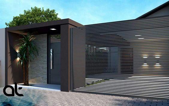 Puertas para cocheras modernas for Puertas de madera para cochera