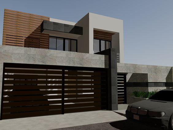 Puertas para cocheras modernas for Cocheras minimalistas