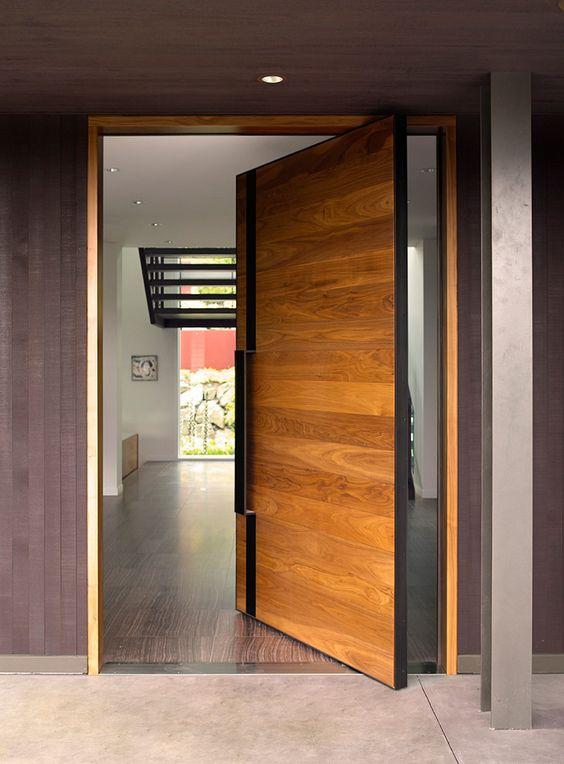 Puertas principales para casas modernas 13 curso de - Puertas de casas modernas ...