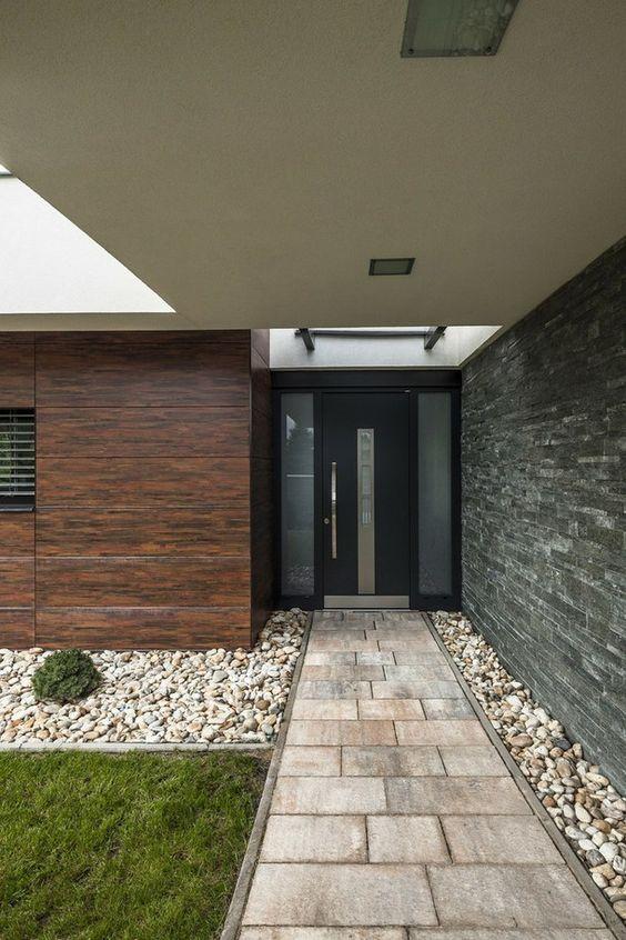 Puertas principales para casas modernas 14 curso de for Puertas principales exteriores