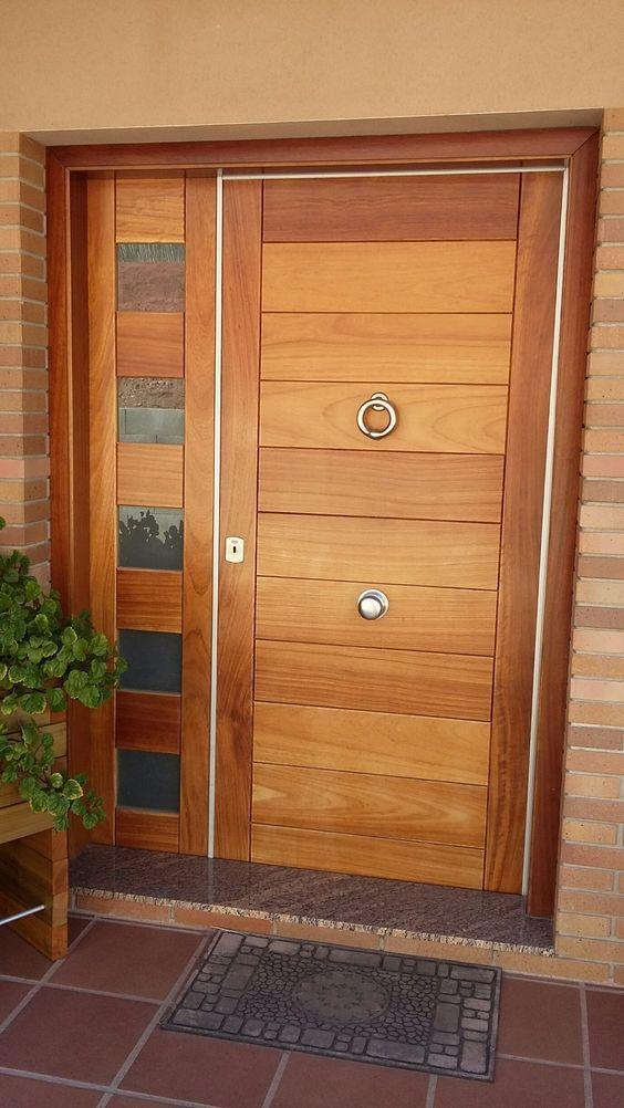 Puertas casas modernas excellent modelos de cocinas - Puertas de seguridad para casas ...