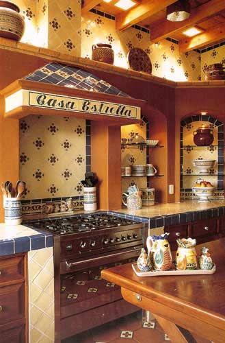 Decoración de cocinas estilo mexicano