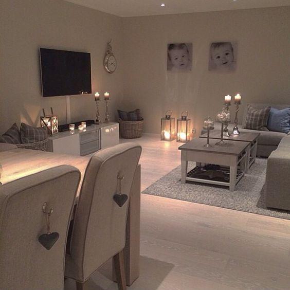 Como decorar sala y comedor juntos elegantes modernos for Como decorar comedor y sala