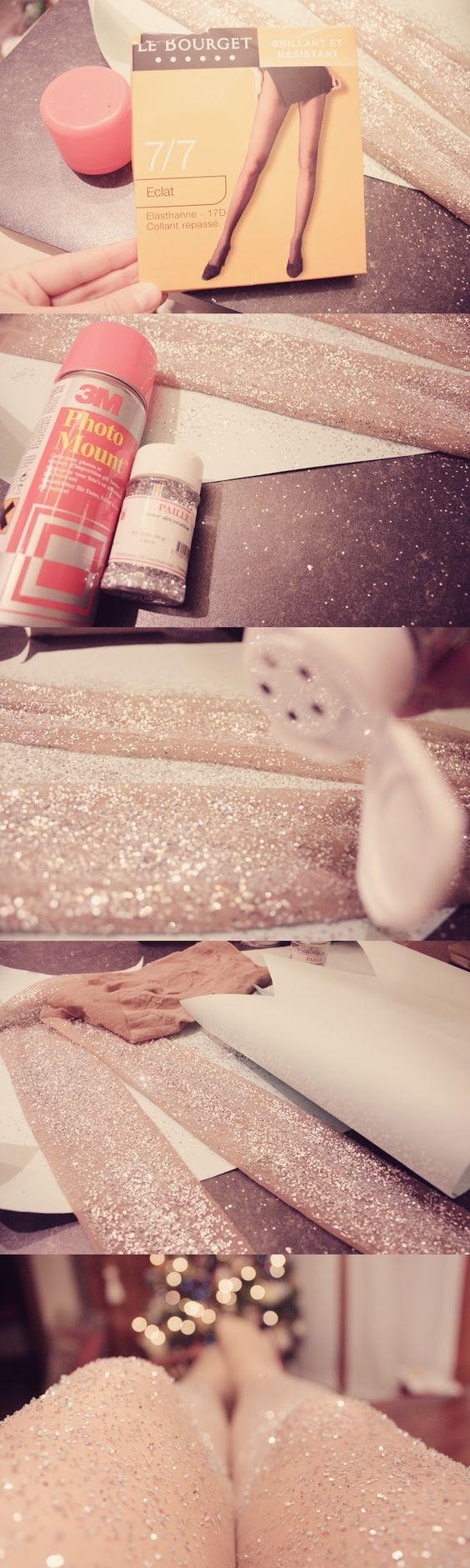 Como hacer medias con brillos para invierno