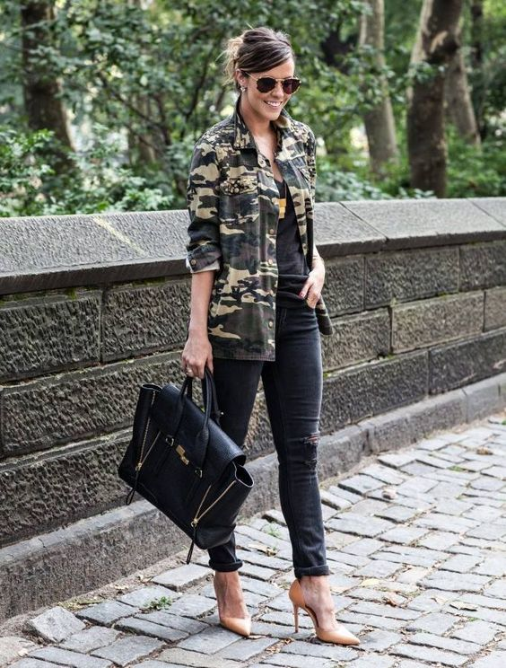 12 Outfits con Camuflaje