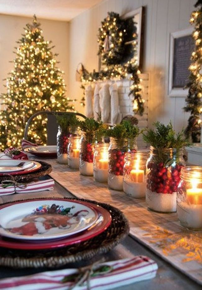 Tendencia en decoraci n navide a 2017 2018 curso de organizacion del hogar y decoracion de - Decoracion navidena para casas ...