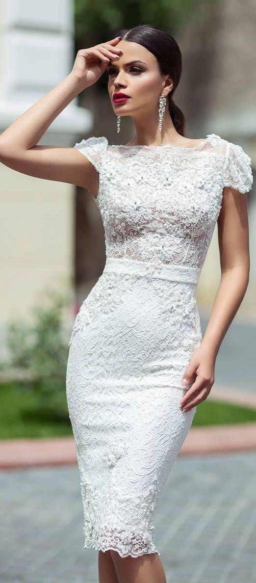 Vestidos boda civil elegantes