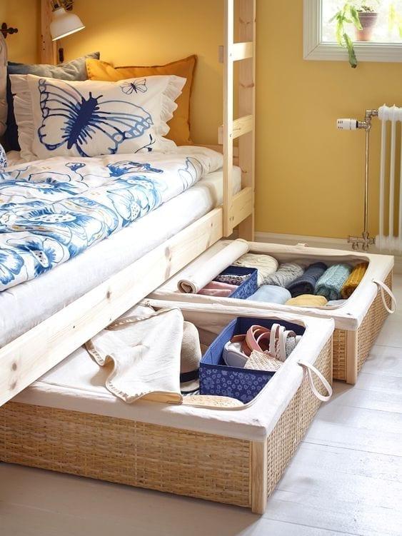 Almacenamiento debajo de tu cama