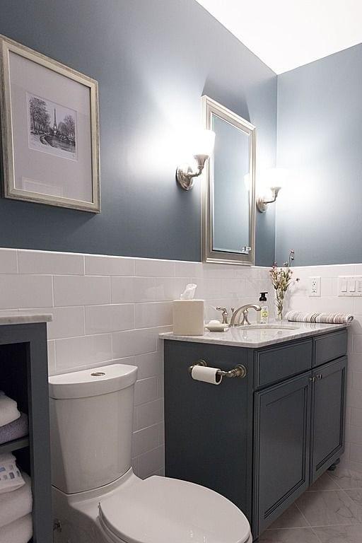 Baños simples para aumentar el espacio
