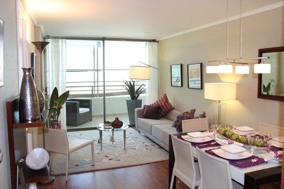 Como decorar sala y comedor en espacios abiertos peque os for Decoracion minimalista para departamentos pequenos
