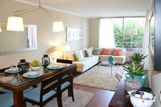 Como decorar sala y comedor en espacios abiertos peque os for Decoracion ambientes muy pequenos