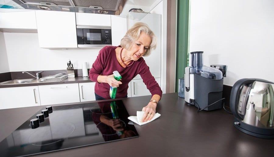 Cómo mantener encimeras limpias