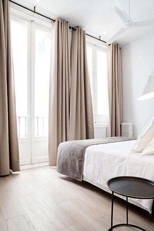 Altura ideal para las cortinas
