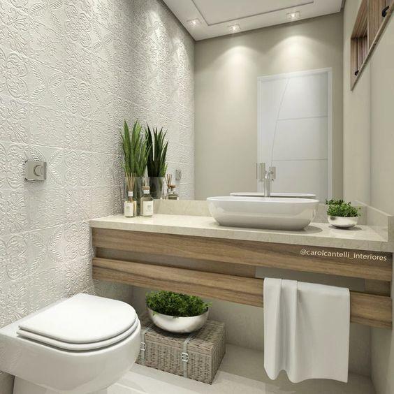 De 50 disenos de banos pequenos que te inspiraran 9 Diseno lavabos pequenos