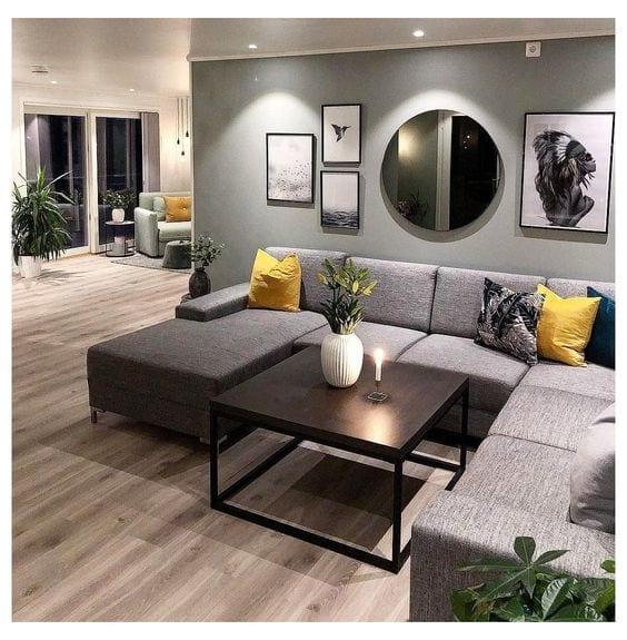 Decoración con espejos para una sala elegante y moderna