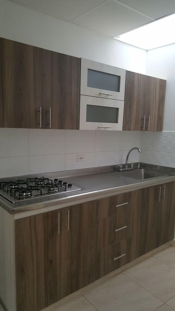 Decoración de cocinas integrales de aluminio