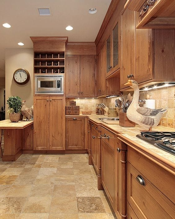 Decoración de cocinas integrales tradicionales