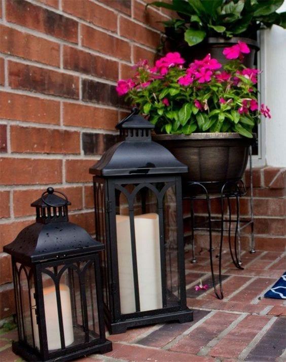 Como decorar entradas exteriores de casas