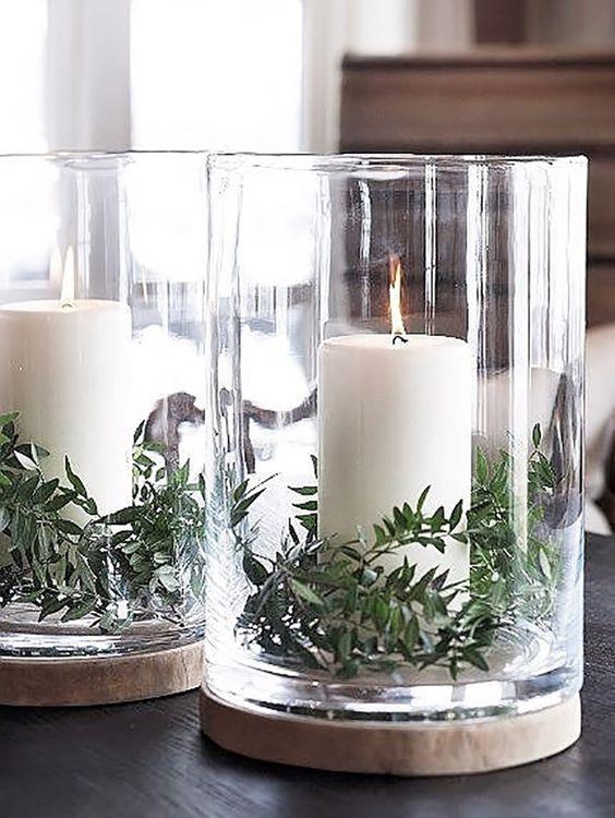 Decoración navideña minimalista