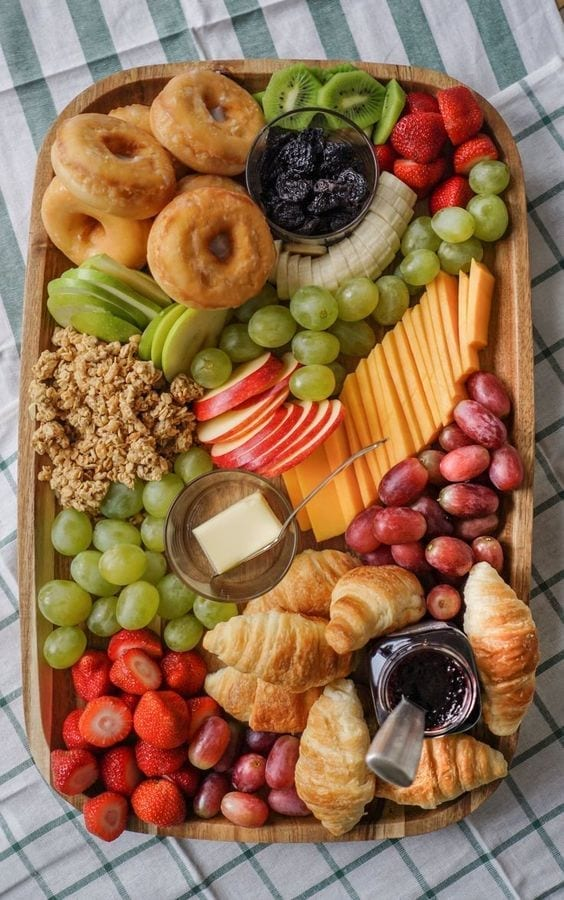Desayunos familiares con fruta