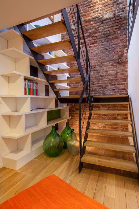 Escaleras De Herrería Para Interiores Escaleras De Concreto Y Madera
