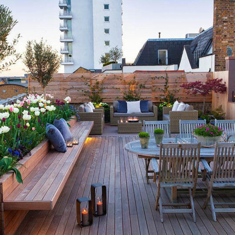 Dise o de terrazas y exteriores para casas peque as for Imagen de terrazas de casas pequenas