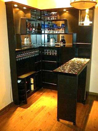 Disenos y decoracion de minibar en casa 15 curso de for Mini casa minimalista