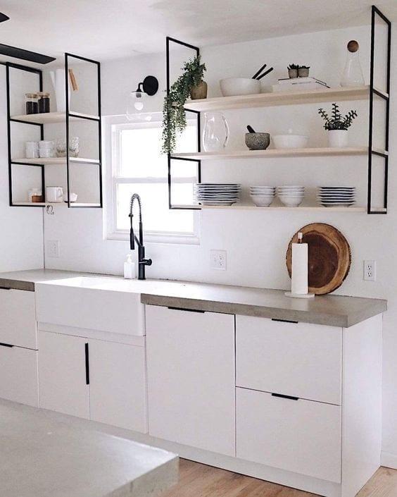 Estantes para cocina modernos