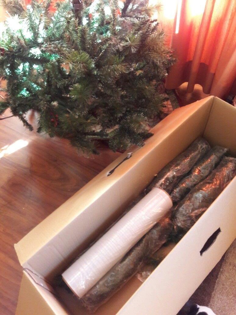 Guardar el árbol de navidad en una funda