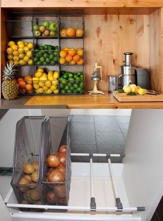 Ideas de estanterías para frutas y verduras