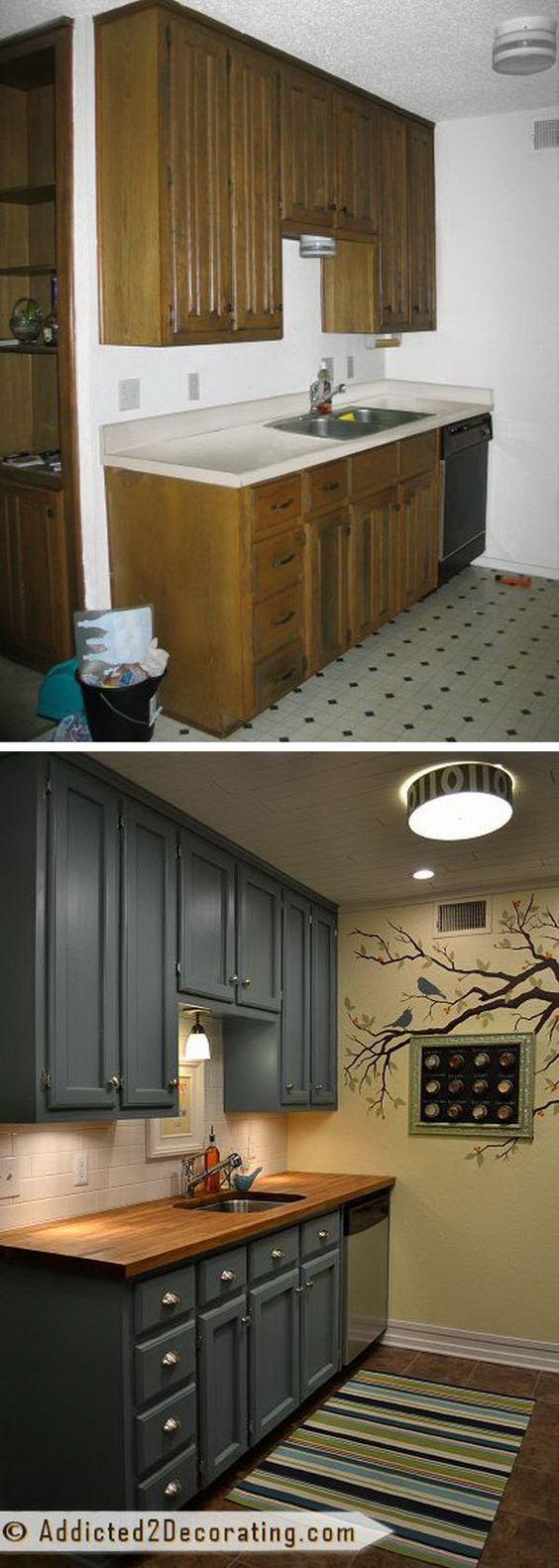 Ideas para arreglar tu cocina con poco dinero for Cambiar color muebles
