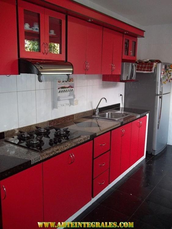 Ideas para decoración de cocinas integrales en diferentes colores