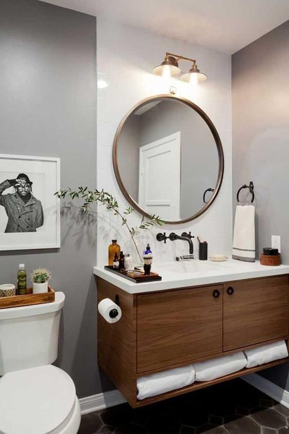 Diseño de espejos para baños pequeños y modernos