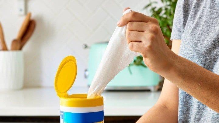 No utilizar toallas desinfectantes